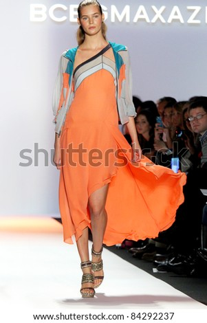NEW YORK - SEPTEMBER 8: A model walks the runway at the BCBG Max Azria SS 2012 Collection presentation during Mercedes-Benz Fashion Week on September 8, 2011 in New York.