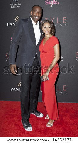 NEW YORK - SEPTEMBER 05: Alexis Welch and Amar'e Stoudemire attend the 9th annual Style Awards during Mercedes-Benz Fashion Week at The Stage Lincoln Center on September 5, 2012 in New York City
