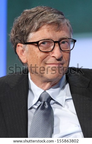 NEW YORK - SEPTEMBER 24: Bill Gates attends the Clinton Global Initiative Annual Meeting at The Shertaon New York Hotel on September 24, 2013 in New York City.