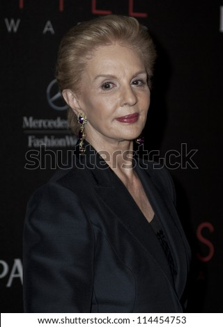 NEW YORK - SEPTEMBER 05: Carolina Herrera attends the 9th annual Style Awards during Mercedes-Benz Fashion Week at The Stage Lincoln Center on September 5, 2012 in New York City
