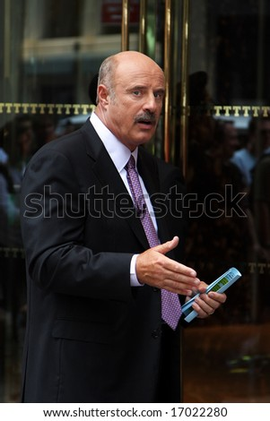 NEW YORK - SEPTEMBER 3: Dr. Phil in New York recording a new episode