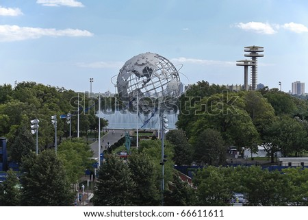 NEW YORK - SEPTEMBER 04: General view Of Flushing Meadows Park during US Open Tennis Championship on September 04, 2010 in New York, City.