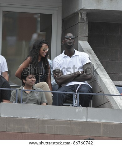 NEW YORK - SEPTEMBER 05: Kevin Garnett attends 4th round match between Jo-Wilfried Tsonga of France & Mardy Fish of USA at USTA Billie Jean King National Tennis Center on September 05, 2011 in New York City, NY