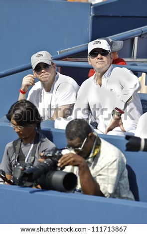 NEW YORK - SEPTEMBER 1: Kevin Spacey attends 3rd round match between Feliciano Lopez of Spain & Andy Murray of United Kingdom at US Open tennis tournament on September 1, 2012 in Flashing Meadows NYC