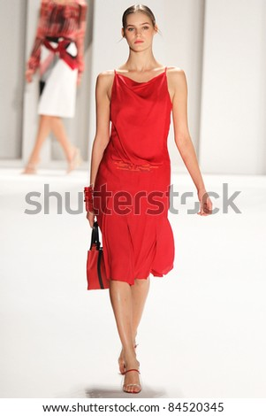 NEW YORK - SEPTEMBER 12: Model walks the runway at the Carolina Herrera S/S 2012 collection presentation during Mercedes-Benz Fashion Week on September 12, 2011 in New York.