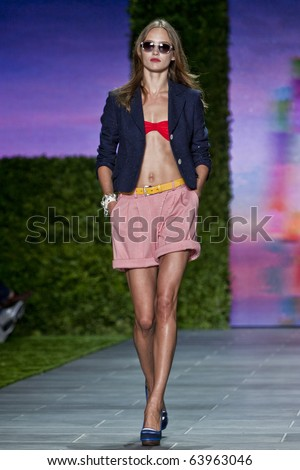 NEW YORK - SEPTEMBER 12: Tommy Hilfiger spring summer 2011 fashion show at New York fashion week September 12, 2010 in New York, New York