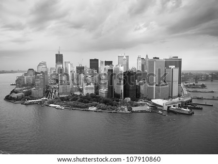 New York Skyline B&W - stock photo