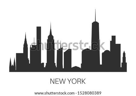 New York skyline colorful illustration.