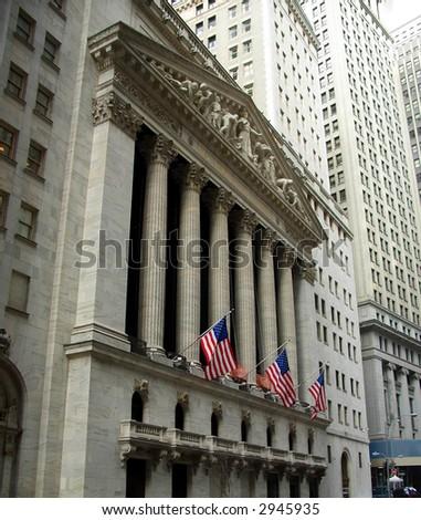 stock exchange wall street. stock photo : New York Stock