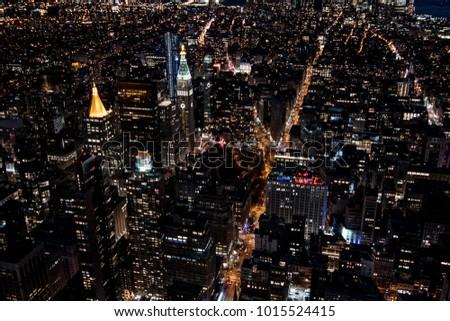 New York Streets by Night #1015524415