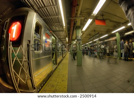 New York Subway - times square - stock photo