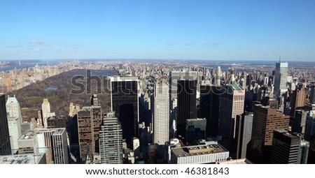 New York upper Manhattan and Central Park #46381843