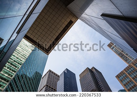 NEW YORK, USA - Jun 01, 2014: Manhattan modern architecture. Manhattan is the most densely populated of the five boroughs of New York City #220367533