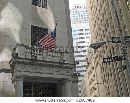 NEW YORK, USA - MAY 05: Located at 11 Wall Street, New York City, USA. It is the world's largest stock exchange by market capitalization of its listed companies at US$11.92 trillion as of Aug 2010.