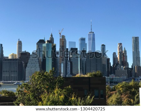 New York Vacations Travel Skyline Tower #1304420725