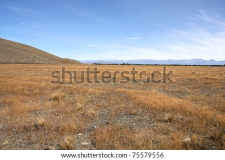 New Zealand - Canterbury Plains with mountains in the background