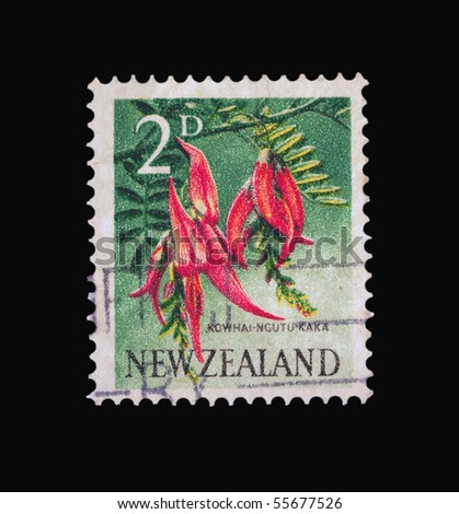 NEW ZEALAND - CIRCA 1987: A stamp printed in New Zealand showing peppers, circa 1987