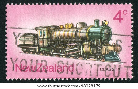NEW ZEALAND - CIRCA 1973: stamp printed by New Zealand, shows locomotive, circa 1973