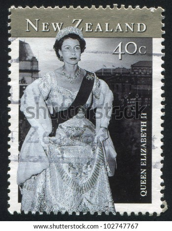 NEW ZEALAND - CIRCA 2001: stamp printed by New Zealand, shows Queen Elizabeth II, circa 2001