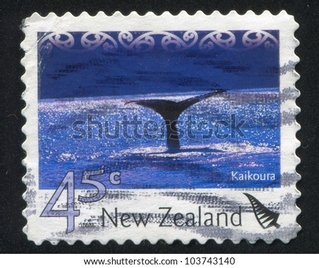 NEW ZEALAND - CIRCA 2004: stamp printed by New Zealand, shows Tourist Attractions - Kaikoura, circa 2004
