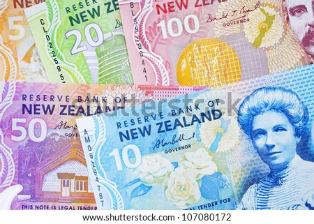 New Zealand currency - stock photo