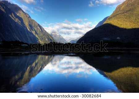 New Zealand Fiordland at the Milford Sound