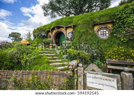 New Zealand - Hobbiton - Movie set - Lord of the rings