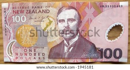 New Zealand One Hundred Dollar bill-front