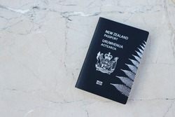 New Zealand passport on the desk