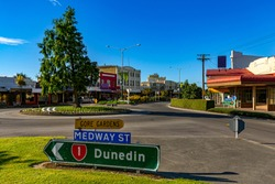 New Zealand, South Island. Gore, town and district in the Southland region