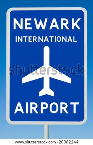 Newark International Airport Sign