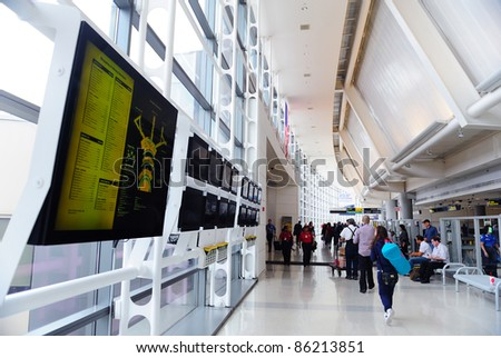 NEWARK, NJ -  Oct 5: Newark Airport interior on October 5, 2011 in Newark, New Jersey. Newark airport near New York City is 10th busiest in US and the 2nd-largest hub for Continental Airlines.