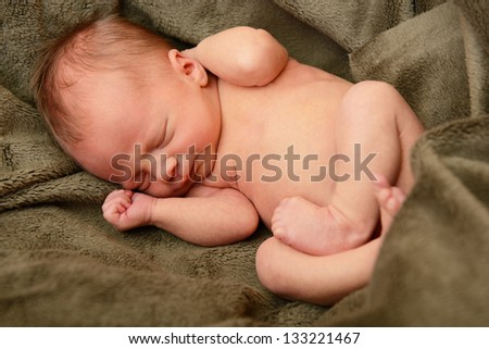 newborn baby, cute sleeping infant