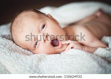 Newborn baby resting