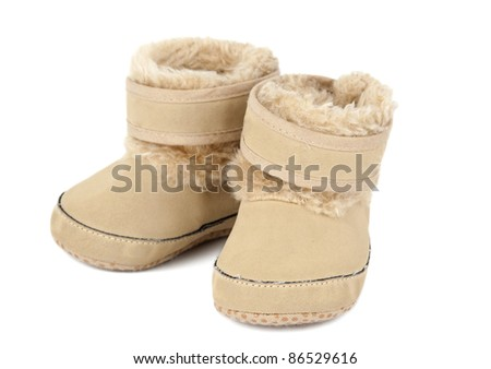 newborn shoes on a white background