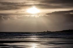 Newborough Beach Winter Sunset Anglesey North Wales