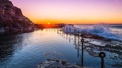 Newcastle's Bogey Hole at Sunrise