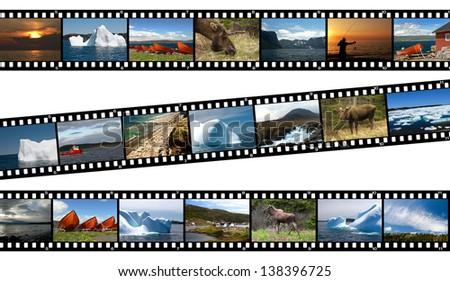 Newfoundland Canada Landscapes Collage Film Strip Photos