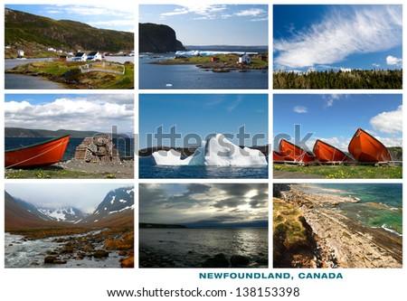Newfoundland Canada Landscapes Collage Postcard