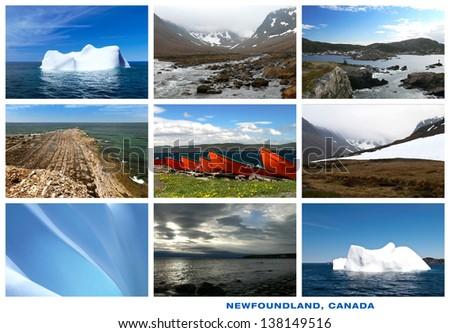 Newfoundland Canada Landscapes Postcard Collage