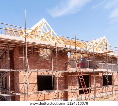 Newly build homes in England UK