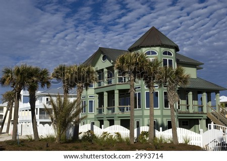 Newly build house development on Pensacola coast, Florida