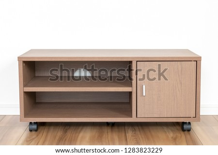 Newly built housing room and TV stand #1283823229