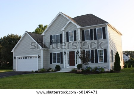 Newly completed Residential house and garage.