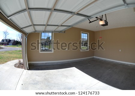Newly Constructed Home's Garage Interior