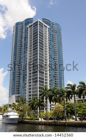 Newly constructed residential buildings in Fort lauderdale