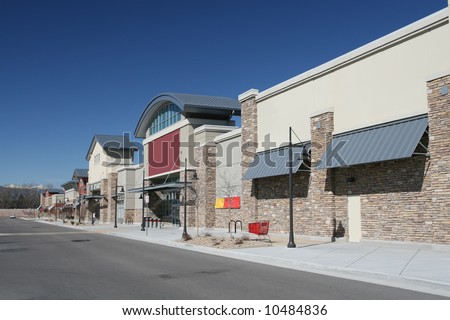 Newly Constructed Retail Strip Center