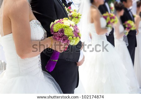 Newly married couple wedding