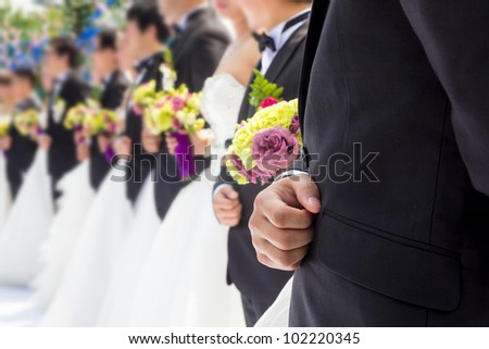 Newly married couple  wedding