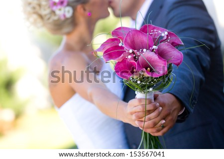 Newly married couple wedding details